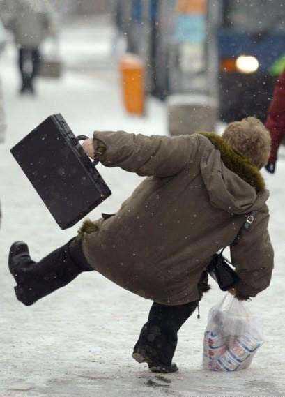 Kälte und Glatteis erhöht die Unfallgefahr