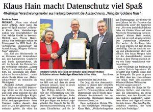 Presseartikel des Stader Tageblatts vom 12.10.2016
