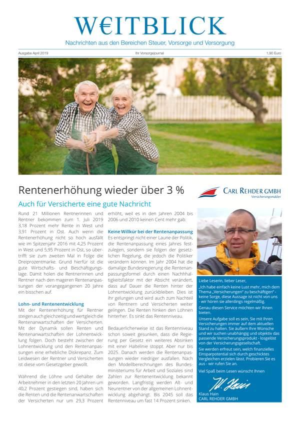 Weitblick Ausgabe April 2019 jetzt online!