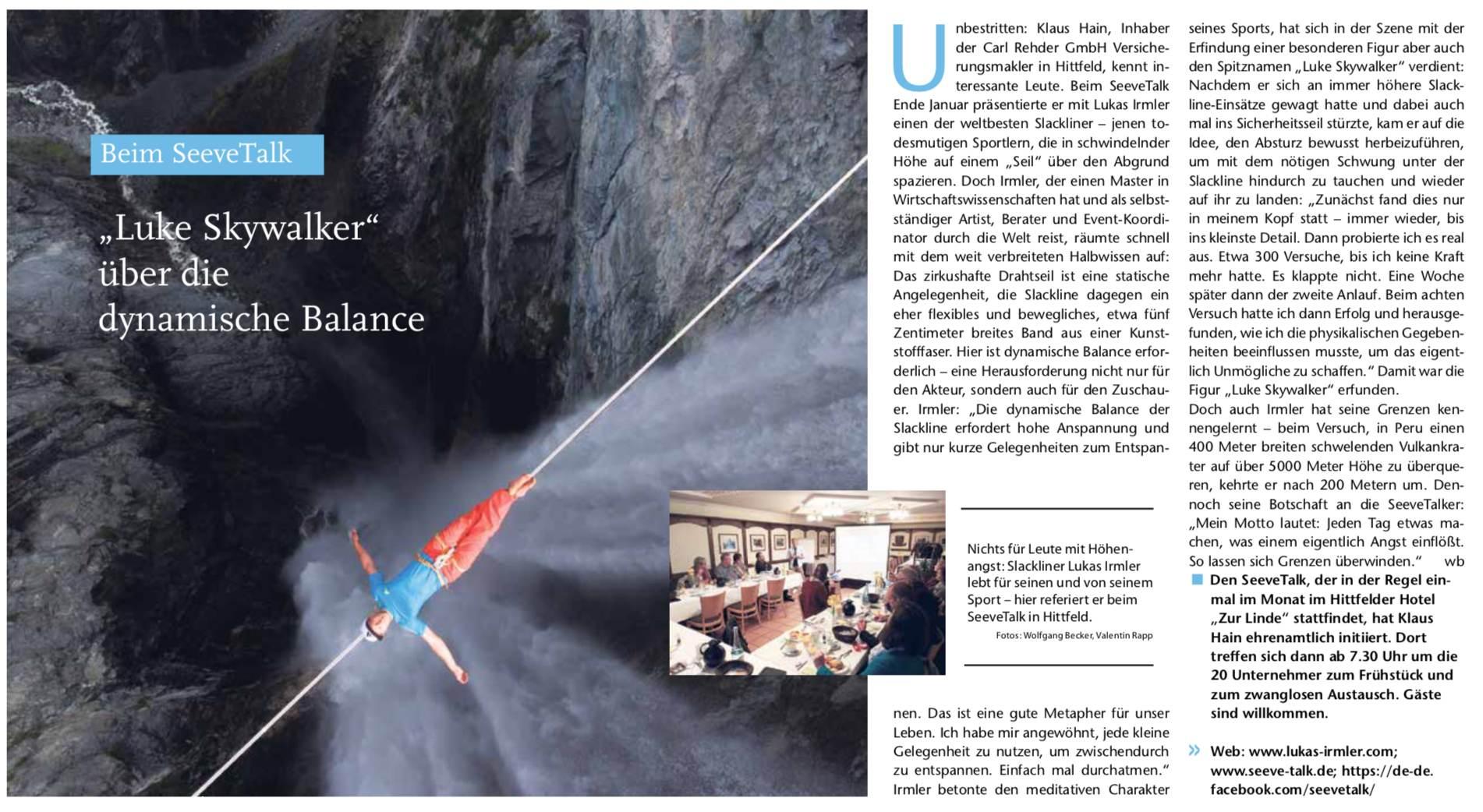 Beim Seevetalk: Luke Skywalker über die dynamische Balance