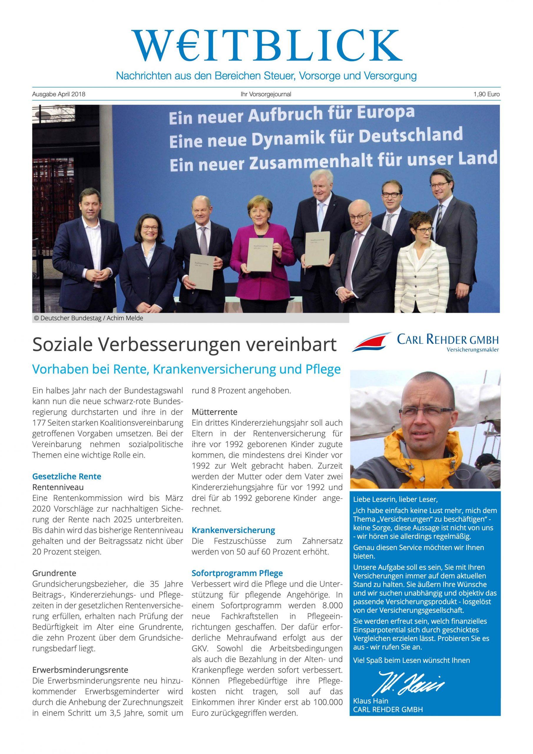 Weitblick Ausgabe April 2018 jetzt online!