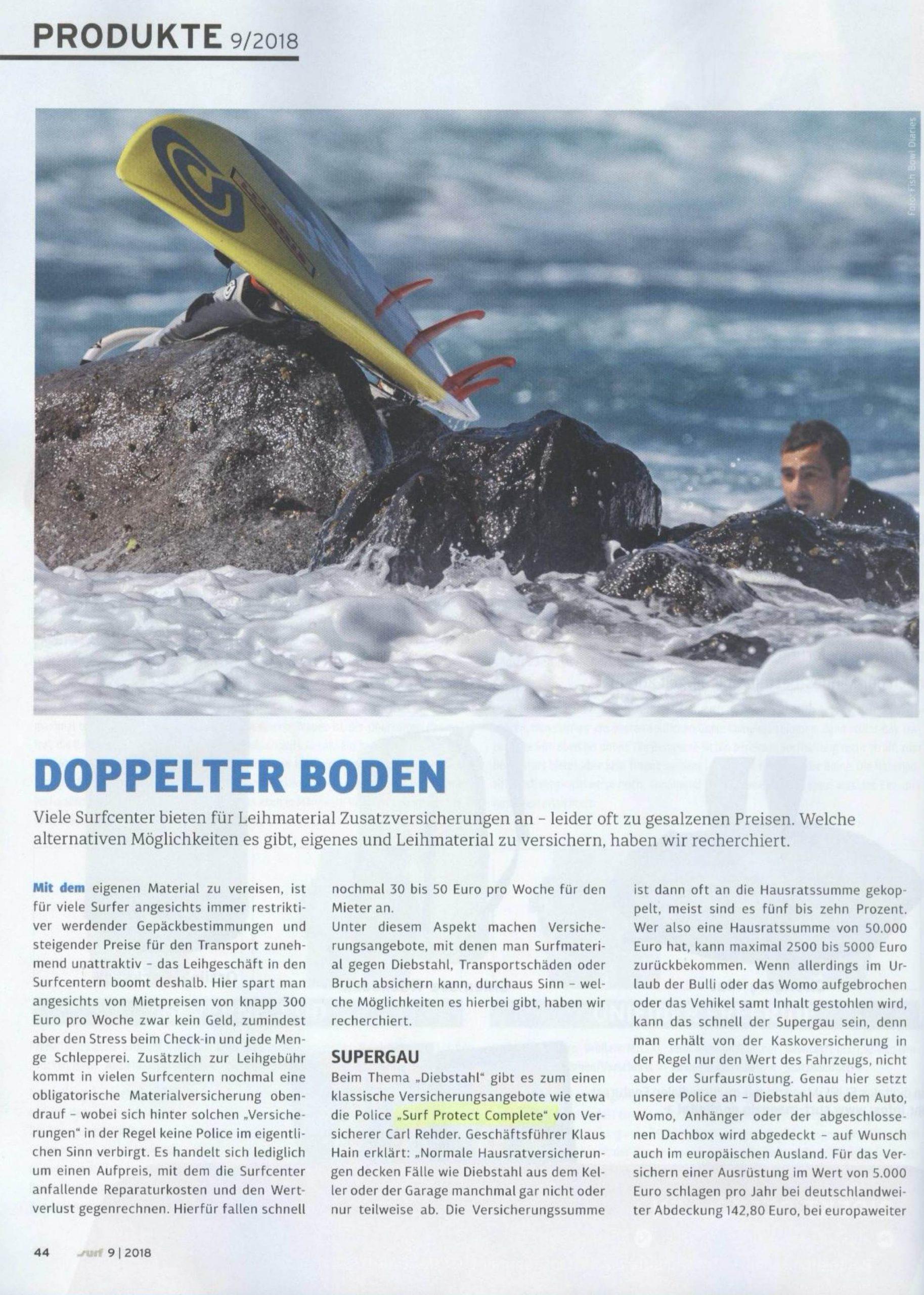 Doppelter Boden für Ihr Surf-Equipment – die Diebstahlversicherung